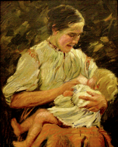 Breastfeeding toddlers occurred even in the 20th century
