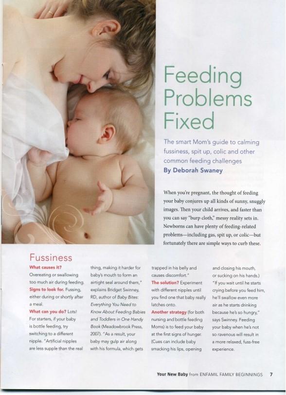 Making breastfeeding a problem