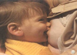 Toddlers love to breastfeed